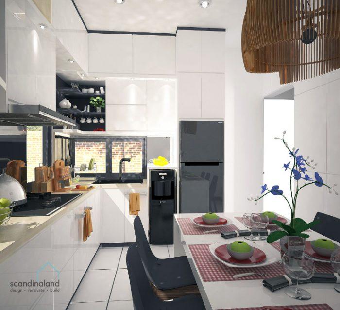 Dapur mewah karya kontraktor interior Jogja Scandinaland