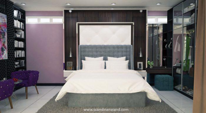 Kamar tidur 3 D, karya kontraktor interior Scandinaland Jogja