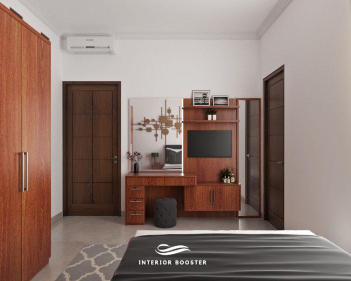 Proyek desain interior kamar tidur di Vasana