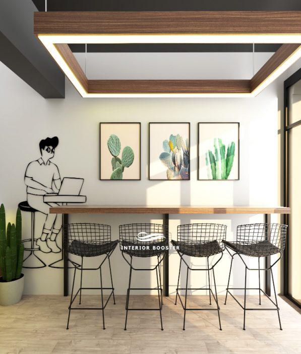 Proyek interior cafe di Yogyakarta
